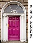 pink georgian doors in dublin | Shutterstock . vector #49230070