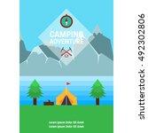 adventure poster   Shutterstock .eps vector #492302806