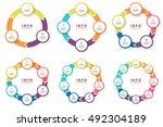 circular arrows for... | Shutterstock .eps vector #492304189