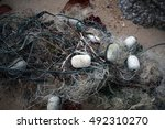 Tangled Abandoned Fishing Net...