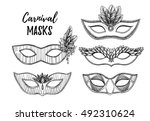 hand drawn vector illustration  ... | Shutterstock .eps vector #492310624