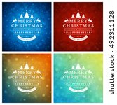 christmas typography greeting... | Shutterstock .eps vector #492311128
