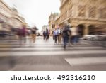 abstract image of business... | Shutterstock . vector #492316210