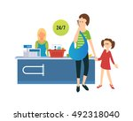 concept of a trip to france and ... | Shutterstock .eps vector #492318040