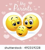 enjoying parenting. happy child.... | Shutterstock .eps vector #492319228