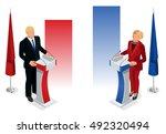 us election. presidential... | Shutterstock .eps vector #492320494