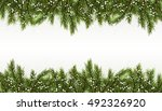 christmas background realistic... | Shutterstock .eps vector #492326920