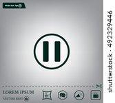 pause button vector icon | Shutterstock .eps vector #492329446