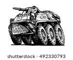 vector illustration of armored... | Shutterstock .eps vector #492330793