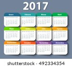 Calendar 2017 Year Vector...