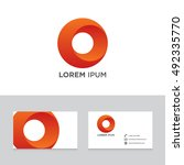 logo brand icon business card... | Shutterstock .eps vector #492335770