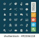 strategy and business icon set. ... | Shutterstock .eps vector #492336118
