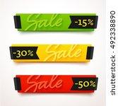ecommerce bright vector banner. ... | Shutterstock .eps vector #492338890