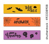 halloween party hand drawn... | Shutterstock .eps vector #492338908