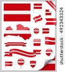 latvia flag set   vector...   Shutterstock .eps vector #492343324
