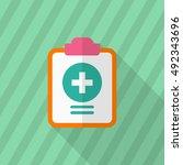 medical records icon   vector... | Shutterstock .eps vector #492343696