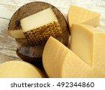 assorted spanish manchego cheese | Shutterstock . vector #492344860