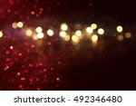 defocused abstract red and gold ... | Shutterstock . vector #492346480