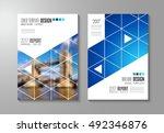 brochure template  flyer design ... | Shutterstock .eps vector #492346876