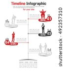 timeline infographic new style... | Shutterstock .eps vector #492357310