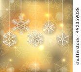 snowflake christmas ornaments... | Shutterstock .eps vector #492359038