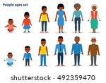 african american ethnic people... | Shutterstock .eps vector #492359470