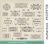 calligraphic design elements.... | Shutterstock .eps vector #492359728
