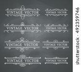 calligraphic design elements.... | Shutterstock .eps vector #492359746