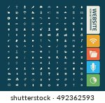 website icon set vector | Shutterstock .eps vector #492362593