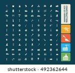 construction icon set vector | Shutterstock .eps vector #492362644