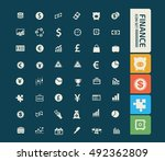 business and finance icon set... | Shutterstock .eps vector #492362809