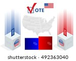 us election infographic. ballot ... | Shutterstock .eps vector #492363040