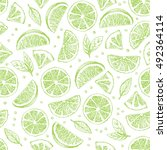 seamless vector pattern with... | Shutterstock .eps vector #492364114