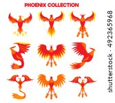 phoenix bird   Shutterstock .eps vector #492365968