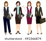 office workers or business... | Shutterstock .eps vector #492366874