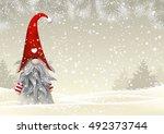 nisser in norway and denmark ... | Shutterstock .eps vector #492373744