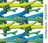 vector illustration of seamless ... | Shutterstock .eps vector #492375253