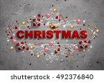 Christmas Frame With Christmas...
