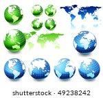 earth globe set  different views | Shutterstock .eps vector #49238242