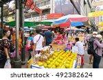 chinatown  bangkok thailand...   Shutterstock . vector #492382624