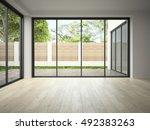 interior empty room 3d rendering | Shutterstock . vector #492383263