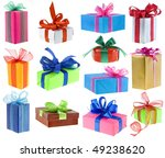 Collection Set Of Colored Gift...