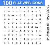 100 icon set. concept... | Shutterstock . vector #492393718