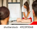 Cpr Class With Instructors...