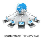e mail 3d illustration | Shutterstock . vector #492399460