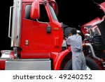 Truck maintenance. - stock photo