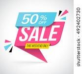 sale banner  vector... | Shutterstock .eps vector #492402730