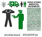 arrest icon with 1000 medical...   Shutterstock .eps vector #492405916