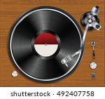 Old Gramophone Vinyl Player...