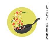 cooking process vector... | Shutterstock .eps vector #492416194